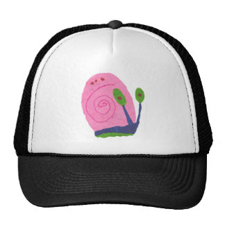 Pink Cartoon Snail Trucker Hat