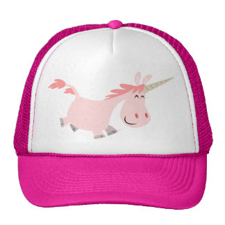 Pink Cartoon Unicorn  hat