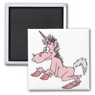 pink cartoon unicorn refrigerator magnet