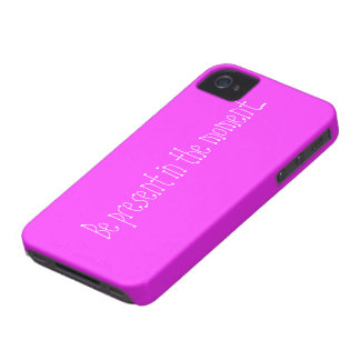 Pink case with motivational phrase iPhone 4 Case-Mate case