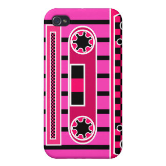 Pink Cassette Tape Covers For iPhone 4