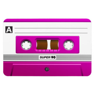 Pink cassette tape magnet