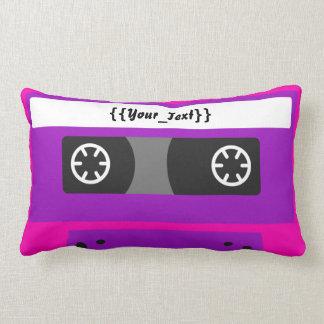 Pink Cassette Tape Pillow