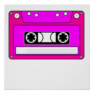 Pink Cassette Tape Print