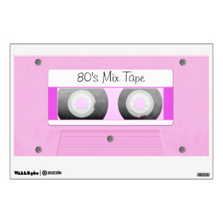Pink Cassette Tape Wall Sticker