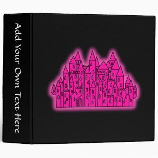 Pink Castle 3 Ring Binder