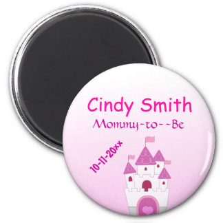Pink Castle Baby Shower Magnet