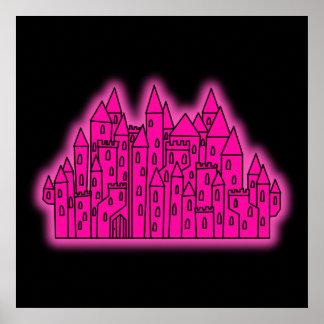 Pink Castle Print