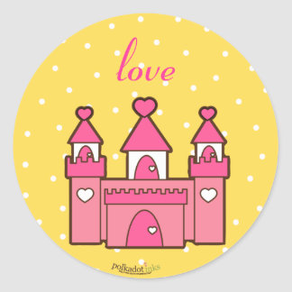 Pink Castle Stickers