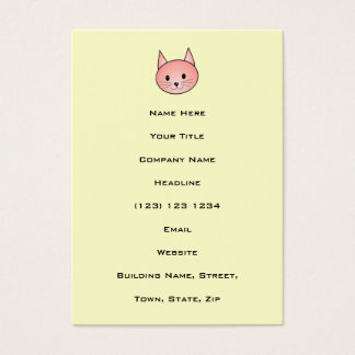 Pink Cat. Adorable kitty. Business Card