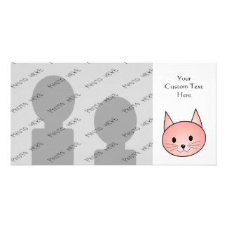 Pink Cat. Adorable kitty. Card