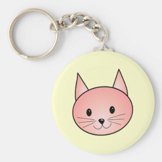Pink Cat. Adorable kitty. Keychain