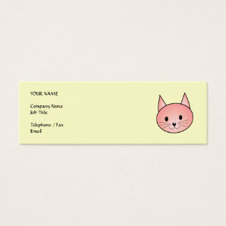 Pink Cat. Adorable kitty. Mini Business Card