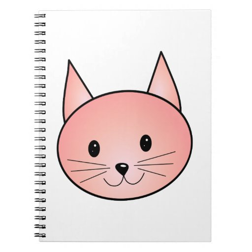 Pink Cat. Adorable kitty. Spiral Notebooks