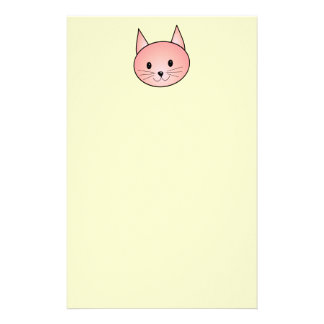 Pink Cat. Adorable kitty. Stationery Design