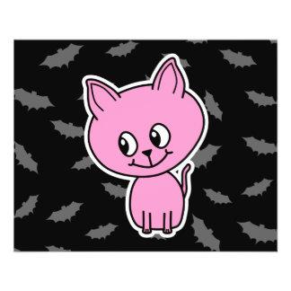 Pink Cat and Bats. Custom Flyer