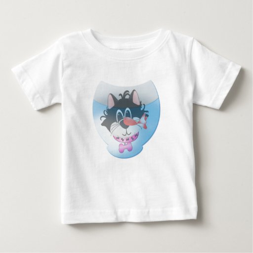 Pink Cat and Fishbowl Tshirts and Gifts