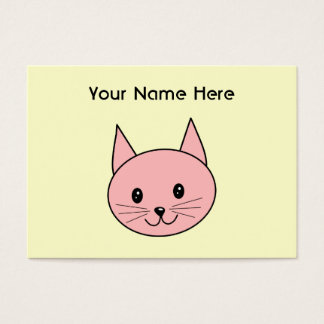 Pink Cat Business Card
