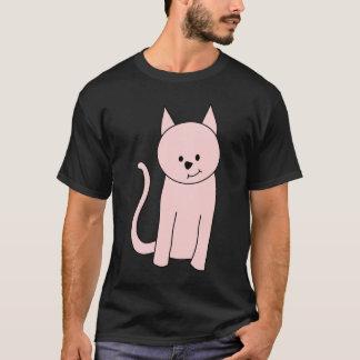 Pink Cat Cartoon T-Shirt