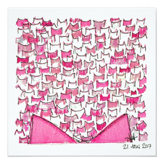 Pink Cat Ears Flat Card