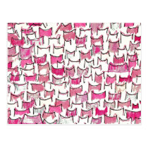 Pink Cat Ears Postcard