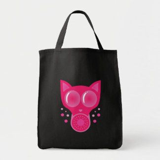 Pink Cat Gas Mask Tote Bag