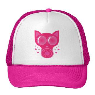 Pink Cat Gas Mask Trucker Hat