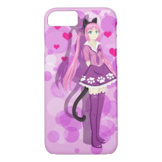 Pink Cat Girl iPhone 8/7 Case