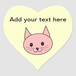 Pink Cat Heart Sticker