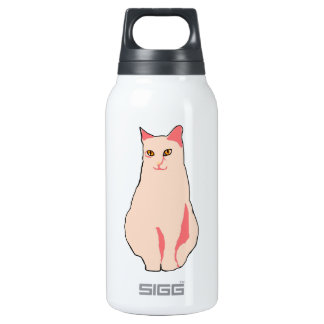 Pink Cat Insulated Water Bottle
