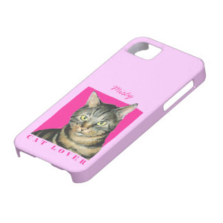 Pink Cat Lover iPhone 5 Case