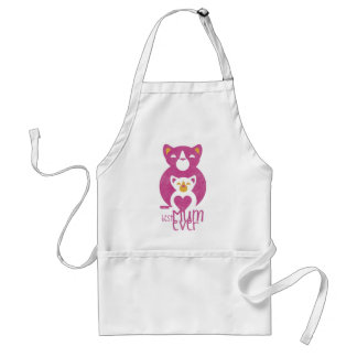 Pink cat mom adult apron