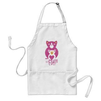 Pink cat mom adult apron