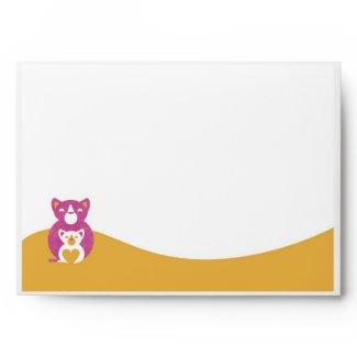 Pink cat mom zazzle_envelope