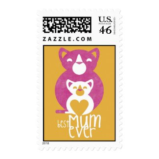 Pink cat mom zazzle_stamp