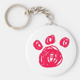 Pink Cat Paw Keychain