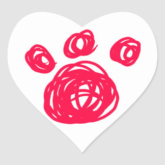 Pink Cat Paw Stickers