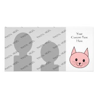 Pink Cat Photo Card