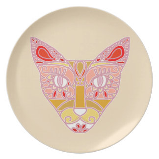 Pink Cat Plate