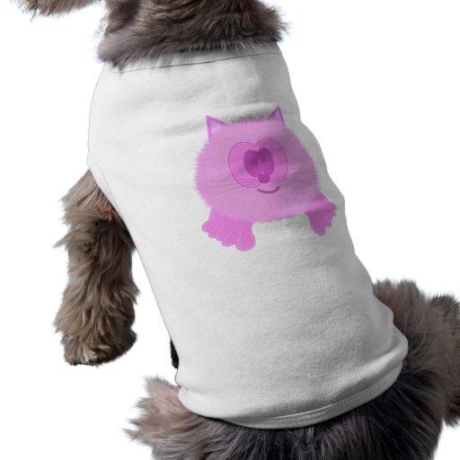 Pink Cat Pom Pom Pal Dog Tee