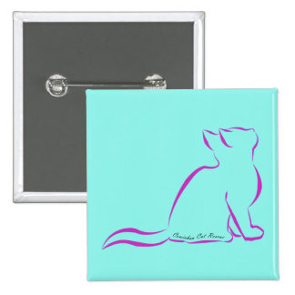 Pink cat silhouette, inside text button