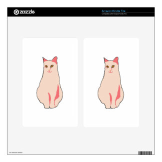 Pink Cat Kindle Fire Decals