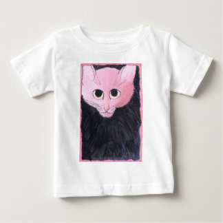 Pink Cat. Watercolor painting. Baby T-Shirt