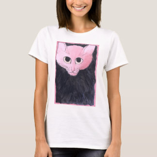 Pink Cat. Watercolor painting. T-Shirt