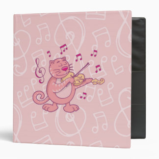 Pink Cat with Violin Binder