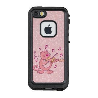 Pink Cat with Violin LifeProof FRĒ iPhone SE/5/5s Case