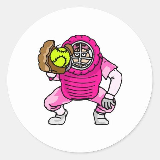 Pink Catcher Classic Round Sticker
