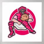 Pink Catcher Poster