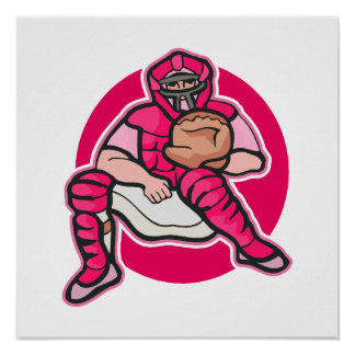 Pink Catcher Posters