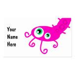 Pink Caterpillar Germ Business Card